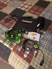 Vintage Nintendo 64 N64 Console System Bundle Mario Party TESTED