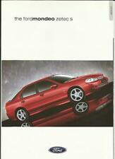 FORD MONDEO ZETEC S  SALES BROCHURE MARCH 2000