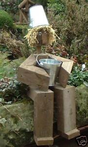 cute chunky's flowerpot men handmade garden figure
