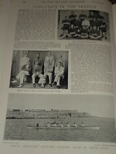 1897 ATHLETICS ROYAL ARTILLERY FOOTBALL ROWING ARMY ETC