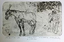 Walter Piacesi  acquaforte1982  prova d'autore - cm. 48 x  33