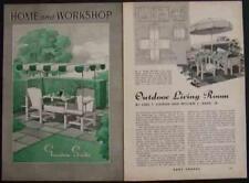Garden LAWN FURNITURE 1941 How-To build PLANS 8 Designs