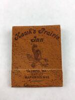 Vintage Hawk's Prairie Inn Olympia Washington Matchbook