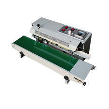 New listing Usa Sell Automatic Horizontal Continuous Plastic Bag Band Sealing Sealer Machine