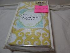 """New Dena Nostalgia Home PAYTON Twin Bedskirt 39""""x75""""x15"""" ~ Yellow/White NIP"""
