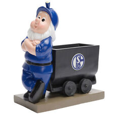 FC Schalke 04 Blumentopf Lore S04 Bergmann FC Schalke 04 Logo Gartenzwerg