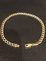 "Men's Women's 14k Yellow Gold Miami Cuban Curb Link 8"" 4.5mm Bracelet 2.7 Grams"
