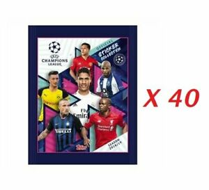 Champions League 2018-2019 Lot 40 Packs Stickers Topps