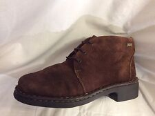 HUSH PUPPIES ladies Brown  Leather Ankle Boots Size 4
