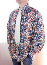"Versace Mens Vtg Collector Cotton Casual Fashion Print Shirt size L 42 16.5"" Z53"