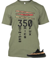 Kanye Yeezy 5 Mics Tee T-Shirt Adidas YZY Boost 350 V2 Infrared Copper Olive New