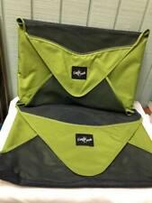 "Two (2) EAGLE CREEK Pack It Garment Folder 19x13"" Travel Shirts Slacks Green"