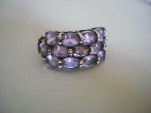 silver ring 925, amethyst size R