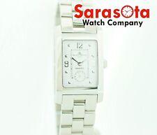 Baume & Mercier MV045063 Hampton Rectangle White Steel Swiss Quartz Wrist Watch