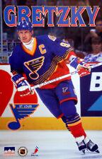 Rare Wayne Gretzky ST. LOUIS BLUES 1996 Vintage NHL Hockey Starline POSTER