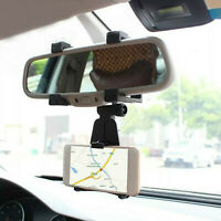 Rearview Mirror Mount Stand Holder Cradle Car Accessories for Cell Phone GPS