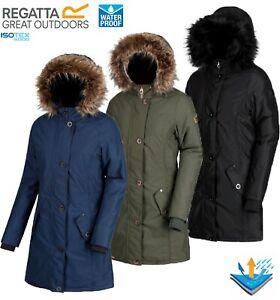 Regatta Ladies SAFFIRA Insulated Waterproof Breathable Jacket Coat Womens