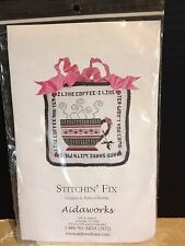 "Stitchin' Fix ""I Like Coffee"" Cross-Stitch By Rebecca Fertitta Sewing Kit/Pillow"