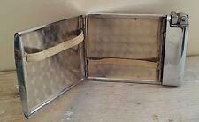Ancienne boite à cigarette avec briquet intégré, art déco, Cigarette box