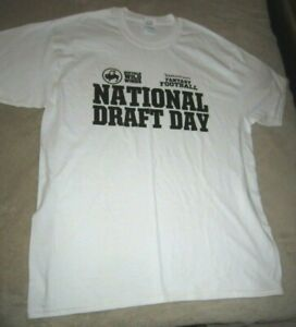 National Draft Day White Large T-Shirt - Football