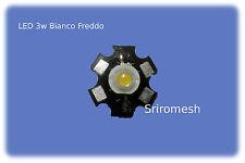 led 3w BiancoFreddo 3V 700mA,condissipatore 6000k 200lm acquario LED 3wcoolwhite