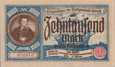 Danzig,10,000 Mark Banknote 26.6.1923,Extra Fine Condition Cat#18-2470