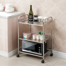 Sturdy Rolling Cart Serving Trolley Office Home Suitable For Kitchen Silver, 4 Tier Bathroom Metal Mesh Storage Units Taylor /& Brown/® All Purpose Shelving