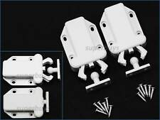 2pcs Beetle Touch Latch Push to Open Drawer Cabinet Door Catch Lock Plate Shut