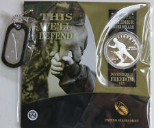 2012 Infantry Soldier 90% Silver Proof Dollar Defenders of Freedom US Mint Set
