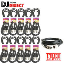 10X 3M DMX XLR Quality Lighting Leads Cables 3 Pin Male To Female 3.0 Metre 10ft