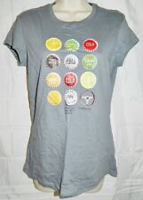 Bacardi T - Shirt Go Together 150 Years Short Sleeve Gray Top size Medium