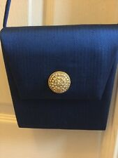 Jim Thompson Evening/ Opera Shoulder Clutch Bag In Royal Blue And Gold detail