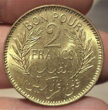 SUPERBE 2 FRANCS TUNISIE 1945