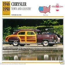 CHRYSLER TOWN AND COUNTRY 1946 1950 CAR UNITED STATES ÉTATS UNIS CARD FICHE