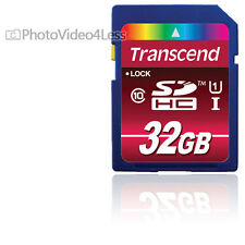 Transcend 32 GB SDHC Class 10  UHS-I SD HC 32GB Flash Memory Card