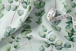 100% Cotton Eucalyptus 2 Fabric 147 CM Wide Metre for Sewing Face Masks UK