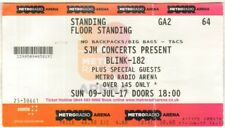 BLINK 182 Metro Radio Arena, Newcastle, Sunday 9th July 2017 UK TICKET STUB