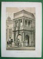 ENGLAND Essex Porch at Audley Inn !! Antique Litho Print