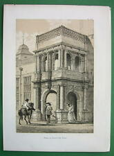 ENGLAND Essex Porch at Audley Inn !! Antique Litho Print