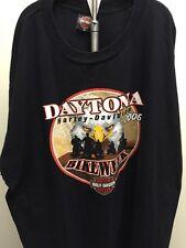 Harley Davidson Motorcycle Daytona 2006 Bike Week 3X Black Shirt