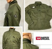 Diesel Men's J-Winy Jacket in Military Green. 100% Cotton With Hoodie Size-L.