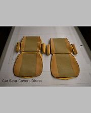 Volkswagen VW Transporter T25 Van Campervan Tailored FABRIC Beige Seat Covers