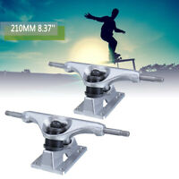 1 Pair 250mm 8.37'' Silver Longboard Trucks Electric Skateboard Hanger Parts ;