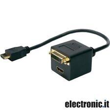 CAVO SDOPPIATORE DA HDMI A DVI-D/HDMI