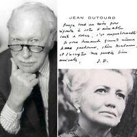 🌓 CAS Jean DUTOURD romancier académicien écrit à la comédienne Louise CONTE #1