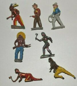 Cowboys & Indians 54mm Britains and others hollow cast western figures