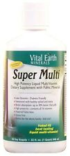 Vital Earth Minerals SUPER MULTI Liquid Vitamin with Fulvic 32 oz PASSION FRUIT