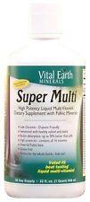Vital Earth Minerals SUPER MULTI Liquid Vitamin with Fulvic 32 oz PASSION FRUIT