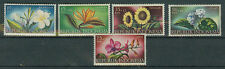 Briefmarken Indonesien 1957 Blumen Mi.Nr.205-09