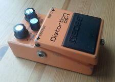 Boss DS1 Japón 1978 Plata Tornillo Distorsión Guitarra Pedal largo Dash Vintage Mij